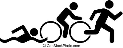 triathlon, piktogram