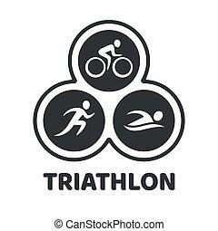 triathlon, wypadek, ilustracja