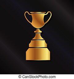 trofeum, logo, złoty