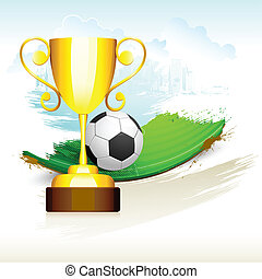 trophyl, piłka nożna, złoty, smoła
