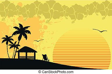 tropikalna plaża, hawajczyk, wallpaper3