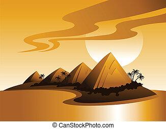 tropikalna wyspa, ilustracja