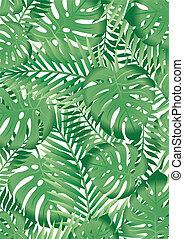 tropikalny, liście