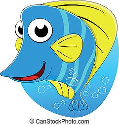 tropikalny, motyl ryba