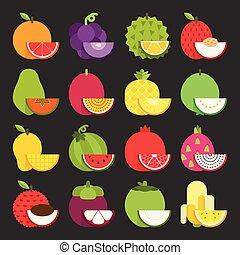tropikalny owoc, ikona