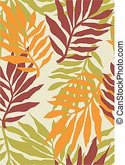 tropikalny, próbka, roślina, seamless