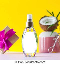 troska, kiść, product., kształt, orzech kokosowy, kosmetyczny, włosy, extract., produkt