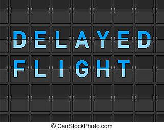 trzepnięcie, lot, deska, opóźniony