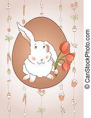 tulipany, królik