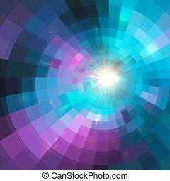 tunel, koło, tło, barwny, lustrzany, abstrakcyjny