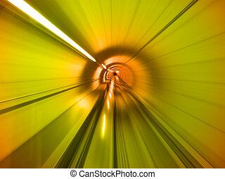 tunel, przez