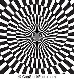 tunel, sztuka, optyczny, nieskończoność