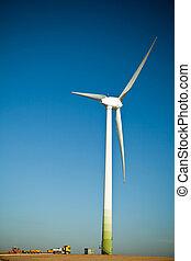 turbina, umieszczenie zbudowania, wiatr