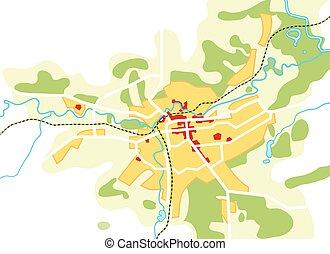 turysta, przewodnik, miejski, city., marszruta, chart., nawigacja, geograficzny, rozmieszczenie, mapa