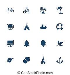 turystyka, wolny czas, ikony