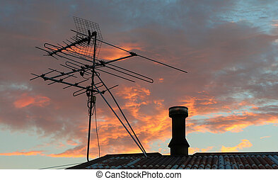tv antenowy, niebo