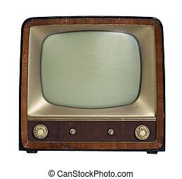 tv wystawiają, stary, nostalgiczny