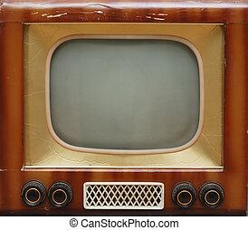 tv wystawiają, stary