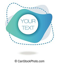 twój, abstrakcyjny, 3d, poster., geometryczny, nachylenie, pattern., błękitny, płyn, tekst, barwny, banner., here., minimalny, tło.