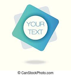 twój, abstrakcyjny, 3d, poster., geometryczny, pattern., błękitny, płyn, tekst, barwny, banner., here., minimalny, tło.