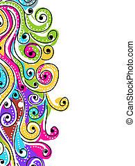 twój, próbka, abstrakcyjny, machać, tło, pociągnięty, ręka, projektować