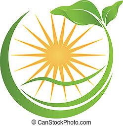 twój, zdrowie, logo, natura, towarzystwo