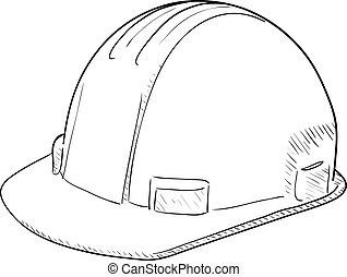 twardy, kapelusz zbudowania