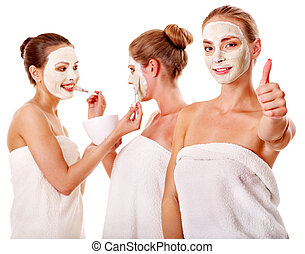 twarzowy, kobiety, mask., grupa