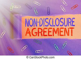 tworzywo, tekst, information., kontrakt, nie, ujawnienie, pojęcie, prawny, pisanie, agreement., albo, treść, poufny, pismo