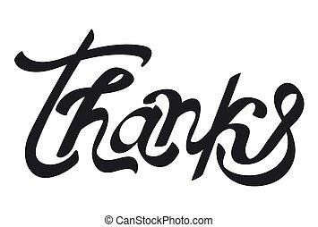 ty, dziękować, napis