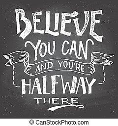 ty, hand-let, może, motywacja, wierzyć