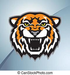 tygrys farbują, głowa, maskotka