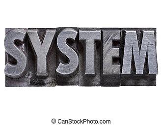 typ, metal, system, słowo