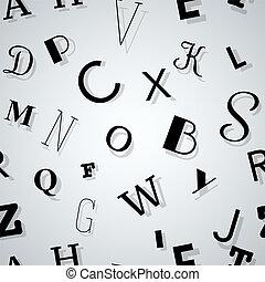 typografia, tło, seamless