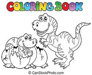 tyrannosaurus, koloryt książka