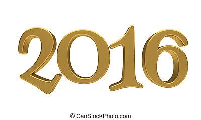 tytuł, 2016, odizolowany, złoty
