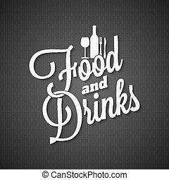 tytuł, jadło, rocznik wina, napój, tło, menu