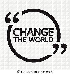 tytuł, projektować, zmiana, ilustracja, świat