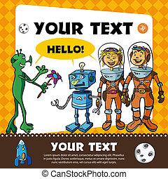 ułożyć, children-astronauts