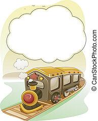 ułożyć, dym, tło, pociąg