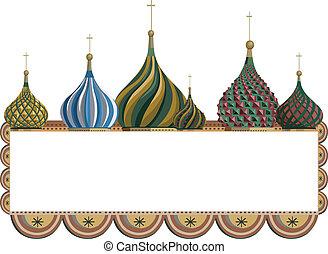 ułożyć, kreml, kopuły