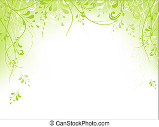 ułożyć, liście, zielony
