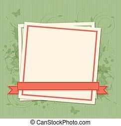 ułożyć, papier, zielone tło