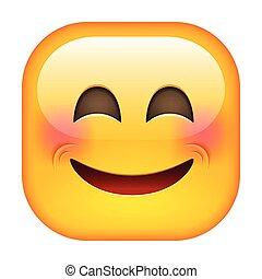 uśmiech, emoticon., śmiech, szczęśliwy