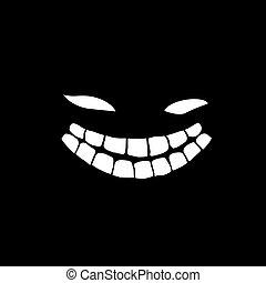 uśmiech, potwór