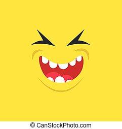 uśmiech, usta, potwór