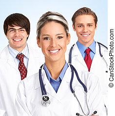 uśmiechanie się, doktor, medyczny, woman.