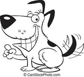 uśmiechanie się, pies, spoinowanie