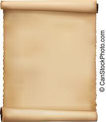 używany, papier, stary, vector., tło.