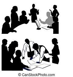 udzielanie, presentation., spotkanie